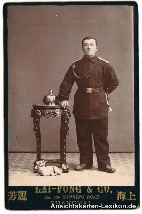 historische Ansichtskarte von 1903: Schutztruppe (Boxeraufstand):: China (Allgemein)