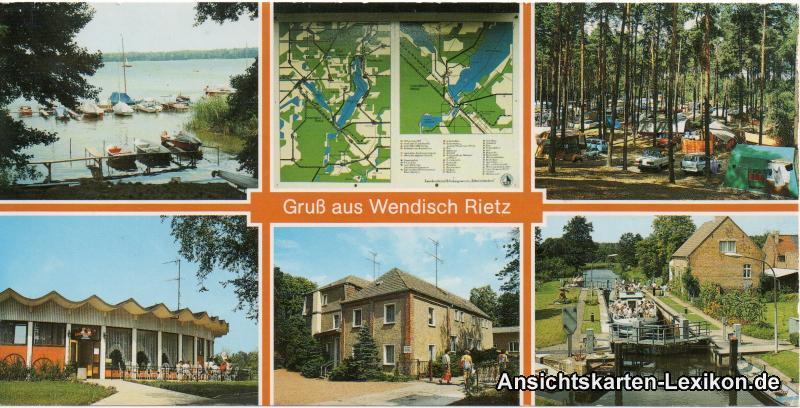 gru aus wendisch rrietz wendisch rietz vintagepostcards archive. Black Bedroom Furniture Sets. Home Design Ideas