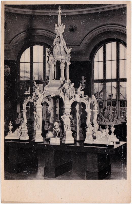 ehrentempel von kaendler staatliche porzellan manufaktur mei en vintagepostcards archive. Black Bedroom Furniture Sets. Home Design Ideas