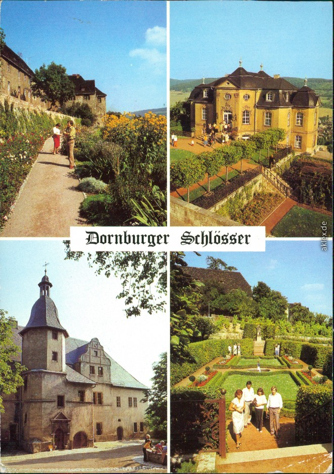 vintage Postcard from 1984: Dornburger Schlösser:: Dornburger-Camburg