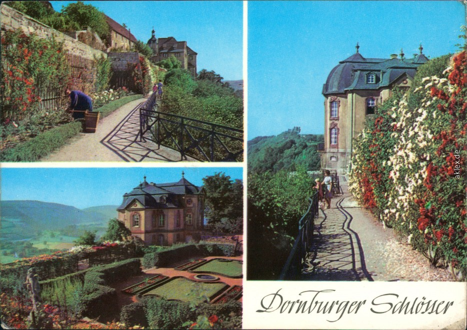 vintage Postcard from 1974: Dornburger Schlösser:: Dornburger-Camburg