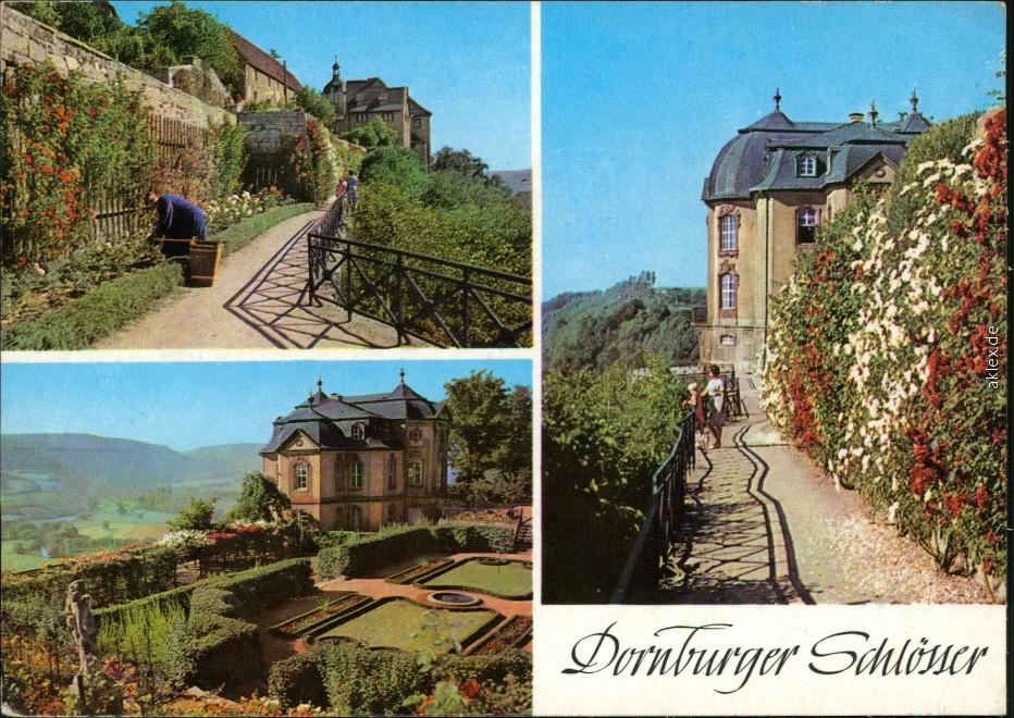 historische Ansichtskarte von 1974: Dornburger Schlösser:: Dornburger-Camburg