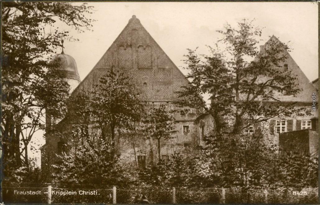 historische Ansichtskarte von 1929: Kripplein Christi:: Fraustadt (Schlesien)