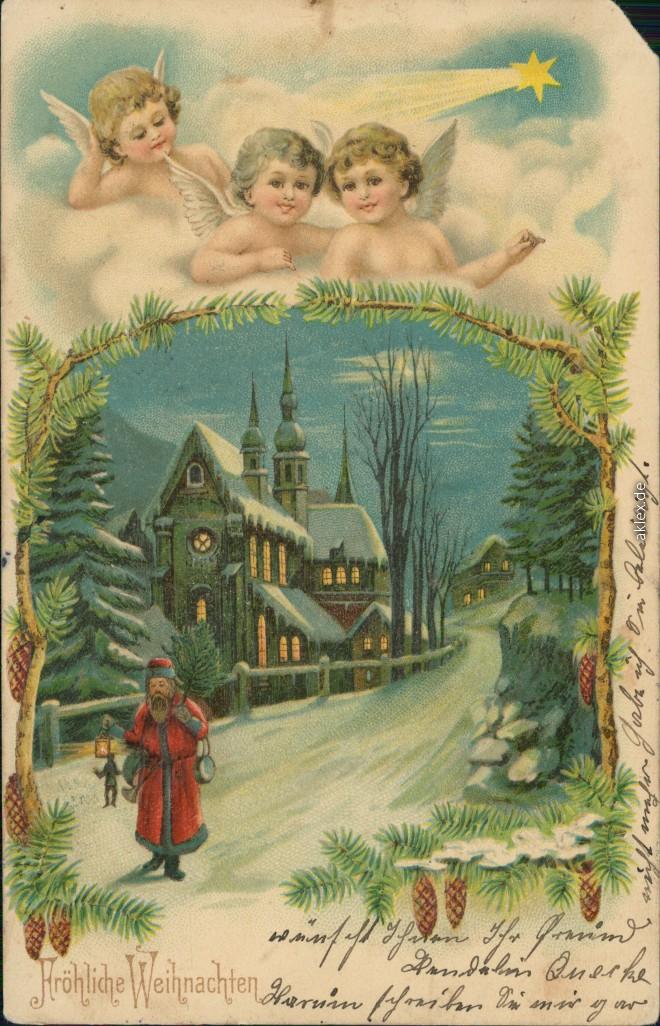 gl ckwunsch gru karten weihnachten engelkinder wache ber die weihnachtszeit. Black Bedroom Furniture Sets. Home Design Ideas